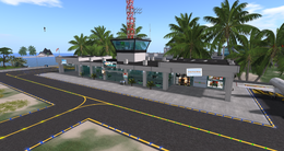Seychelles Isles Airport Terminal, looking NW (02-15)