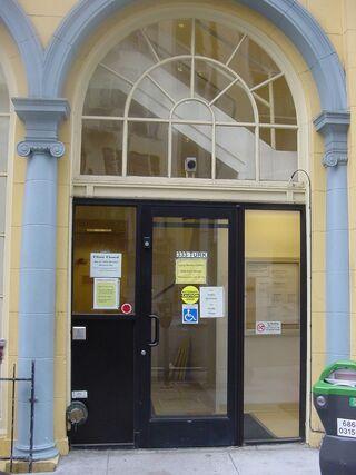 Curry Senior Center entrance