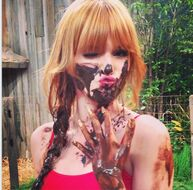 Bella-thorne-muddy-face