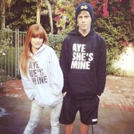 Bella-thorne-matching-hoodies