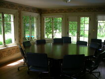 Waukegan Hutchins building interior classroom table