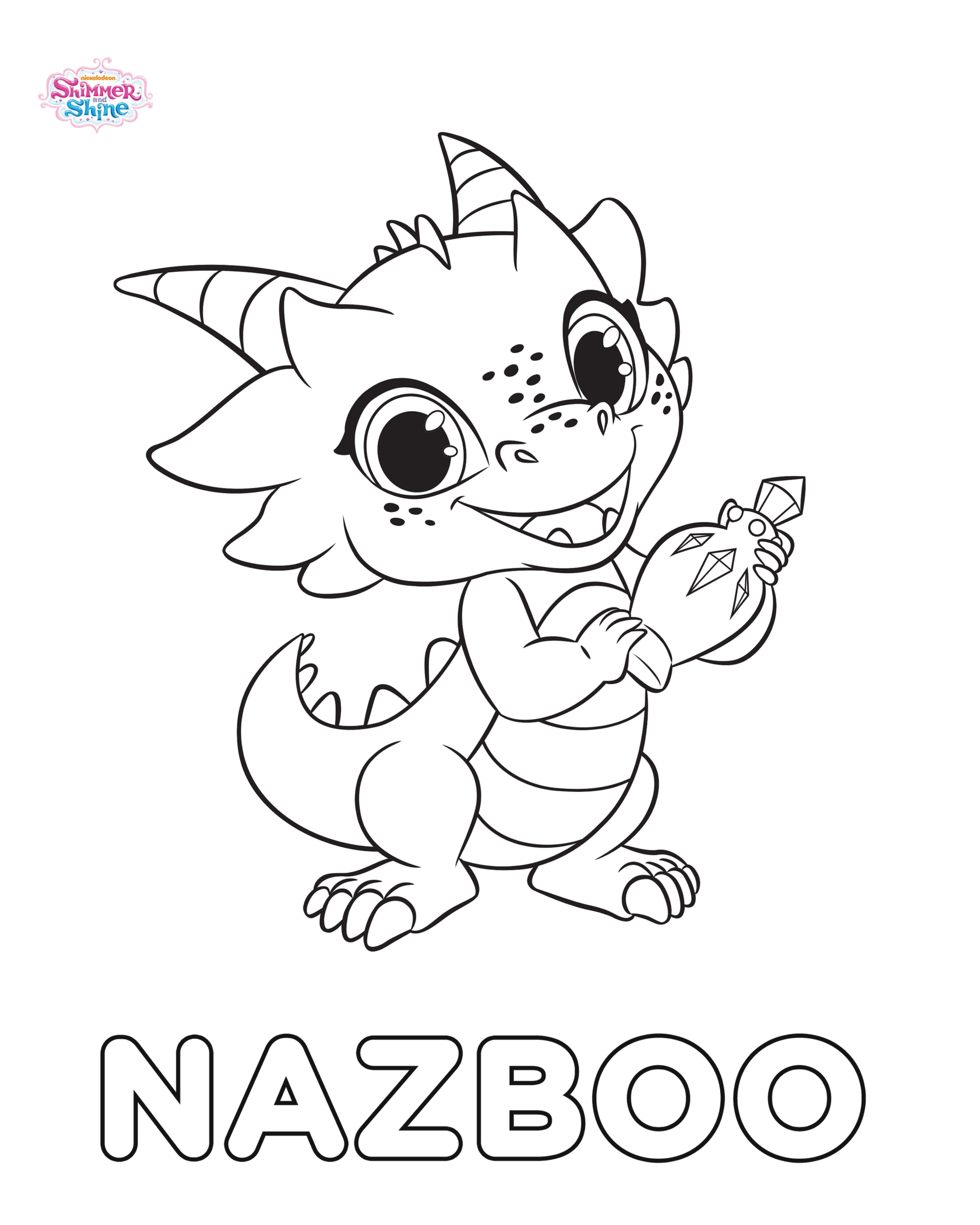 Image Nazboo Shimmer and Shine Coloring Pagepng