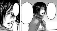 Mikasa explaining Levi