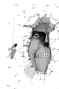 Mikasa and the Wall Titan
