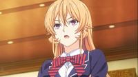 Erina's arrival at the entrance exams (anime)