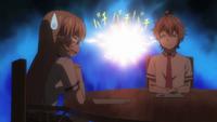 Erina and Satoshi in meeting (anime)