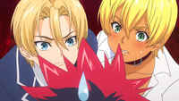 Takumi and Ikumi worry for Sōma (anime)