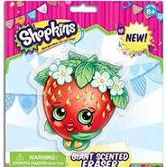 Giant scented strawberry eraser