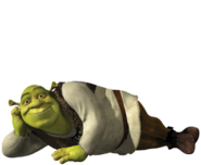 Shrek is posing