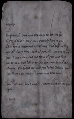 Carol's Letter