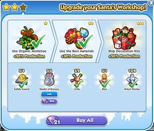 Santa's Workshop Upgrade 3 Unlock