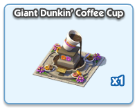 Giant Dunkin' Coffee Cup