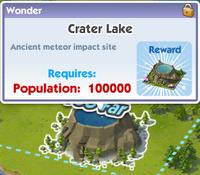 Wonder crater lake