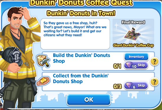 File-Quest - 2dunkin donuts in town