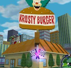 The Simpsons Hit & Run Krusty Burger