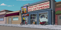 Simpson and Grandson Bike Customizing