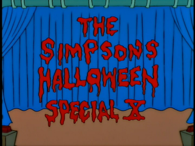 Image result for the simpsons treehouse of horror x