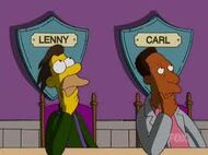 Lenny and Carl thinking