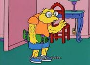 Moleman dressed as bart
