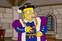 Homer as king henry