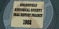 Springfield Historical Society Oral History Project 1952