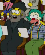 Rabbi Hyman Krustofsky and his son Krusty
