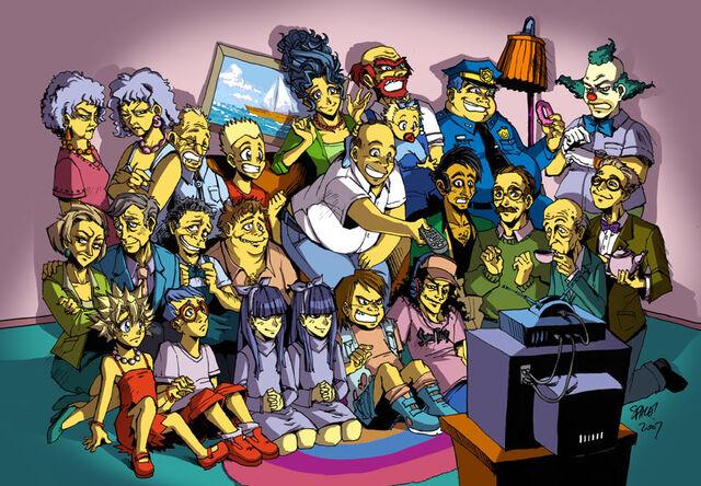 File:Simpsons as anime.jpg
