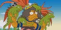 Crazy iguana lady