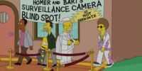 Homer and Bart's Surveillance Camera Blind Spot