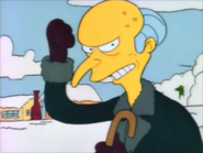 Mr burns after being hit by a snowball