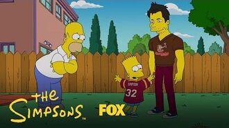 Homer Gets Jealous Of Matt Leinart Season 28 Ep. 8 THE SIMPSONS