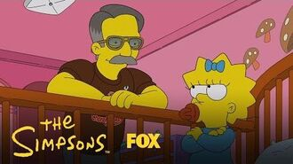 Dan Fouts Tries To Get Maggie To Quit The Pacifier Season 28 Ep. 8 THE SIMPSONS