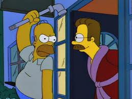 File:Homer trying to hit ned with pipe.jpg