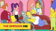 "Futurama meets The Simpsons from ""Simpsorama"" THE SIMPSONS ANIMATION on FOX"