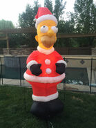 GEMMY The Simpsons HOMER SIMPSON Santa Claus Lighted Air Blown Inflatable 2