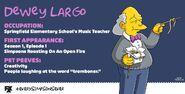 Dewey Largo -Every Simpsons Ever