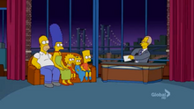 David Letterman Late Show Couch Gag