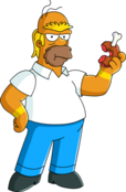 Homer Barbarian Tapped Out