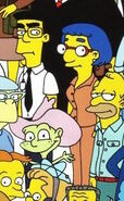 Frank Grimes and Luann Van Houten on Simpsons Character Poster