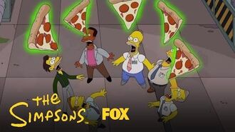 Homer Plays Dominoes With Domino's Pizza Boxes Season 28 Ep. 13 THE SIMPSONS