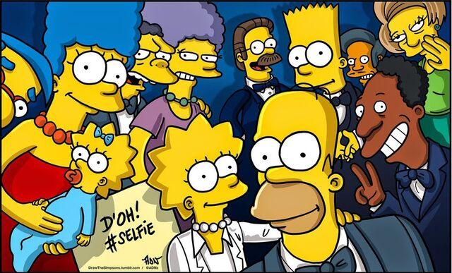 File:Simpsons version of oscars selfies.jpg