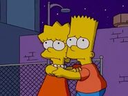 Lisa and Bart frightened