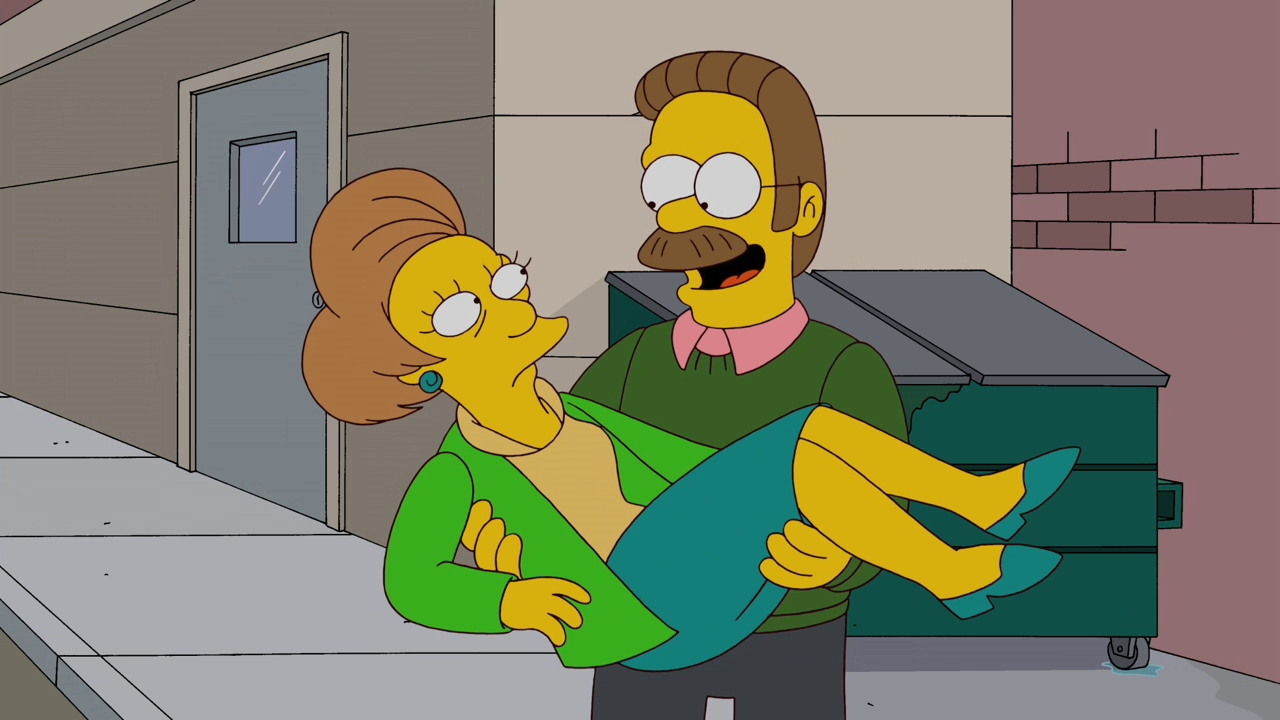 ned flanders dating edna The ned-liest catch is the twenty  ned flanders saves edna from a  edna begins to talk about the simpsons with ned, and the couple soon starts to date.