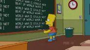Stealing First Base Chalkboard Gag