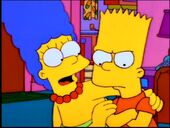 Marge sings to Bart