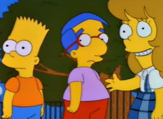 File:Bart, Milhouse, Samantha - 03.PNG
