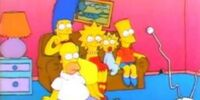 Squashed Homer couch gag