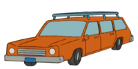 Orange Station Wagon