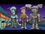 Mayan god in episode