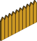 Tapped Out Wooden Fence